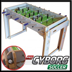 Pro-CYBORG Soccer Ahşap Masa Maçı 4 Kollu Langırt