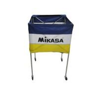 Mikasa BCSPSH-B Mavi - Sarı Top Taşıma Sepeti
