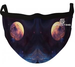 Özel Tasarım Maske Siyah Galaksi Gezegen Çift Taraf
