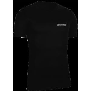 Bisiklet Yaka Antrenman T-shirt Mikro Polyester Siyah